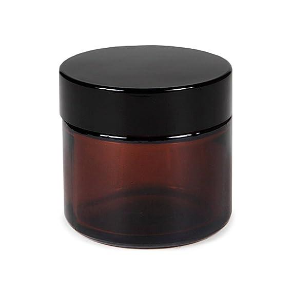 12 Unids Vacío Rellenable Vidrio Marrón Crema Cosmética de La Cara Bálsamo de Labios Botes de Almacenamiento Botella Envase Tapa Del Pote para Maquillaje ...
