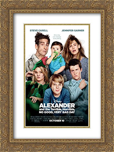 Alexander and The Terrible, Horrible, No Good, Very Bad Day 18x24 Double Matted Gold Ornate Framed Movie Poster Art Print