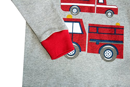 b2404bf122 Truck Boys Pajamas Toddler Sleepwear Clothes T Shirt Pants Set for Kids size  4Y