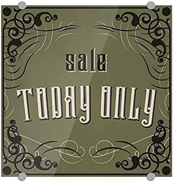 5-Pack Sale Today Only 16x16 Victorian Gothic Premium Acrylic Sign CGSignLab