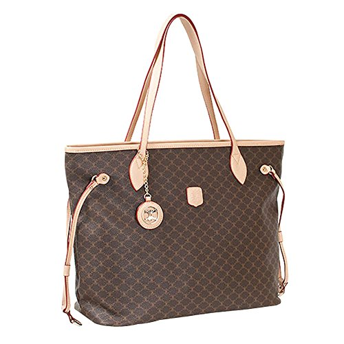 Leather Accents Shopper Shoulder Bag (beige) (Handbags Fake Vuitton Louis)