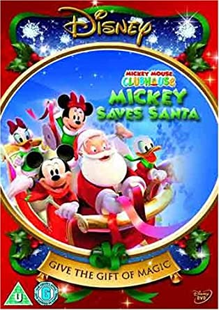 mickey mouse clubhouse mickey saves santa and other mouseketales dvd region 2 - Mickey Mouse Christmas Movies