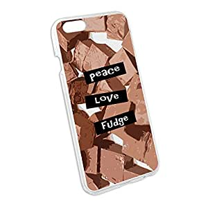 Peace Love Fudge Snap On Hard Protective Case for Apple iPhone 6 6s