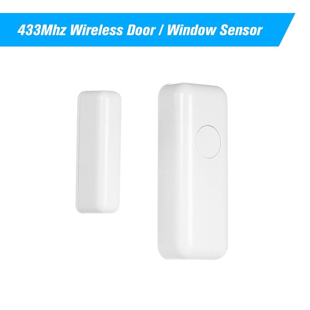 OWSOO 433Mhz Sensor Inalá mbrico de Puertas y Ventanas Compatible con 433Mhz Cá mara IP Alarma de Seguridad para Hogar
