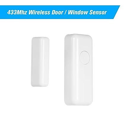 OWSOO 433Mhz Sensor Inalámbrico de Puertas y Ventanas ...