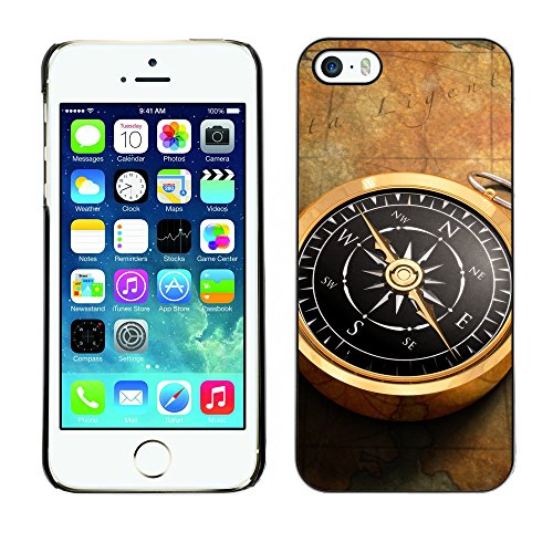 Premio Sottile Slim Cassa Custodia Case Cover Shell // V00001980 Compass Map // Apple iPhone 5 5S 5G
