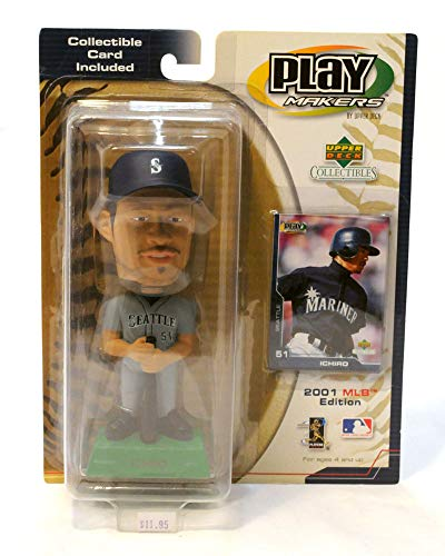 (Seattle Mariners Ichiro Upper Deck Play Makers BobbleHead Grey )
