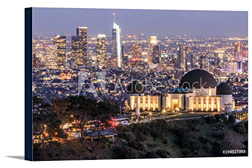 Los Angeles, California - Griffith Observatory Park - Photography A-92159 (24x16 Gallery Wrapped Stretched ()
