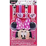 KidPlay Products Disney Minnie Mouse Flavored Nail Polish Lip Balm Collectible 3D Carrying Bag