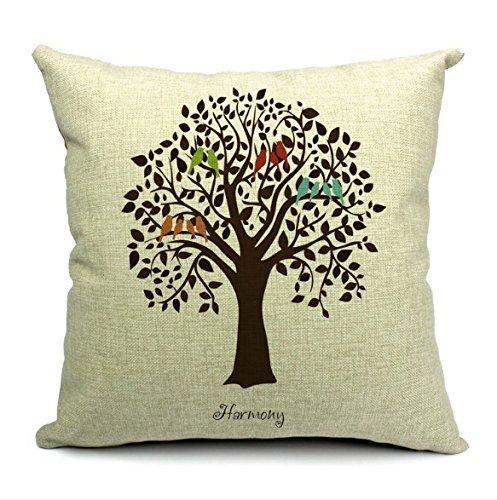 Nieve árbol de vida Simple oficina NAP almohada cojines y de ...