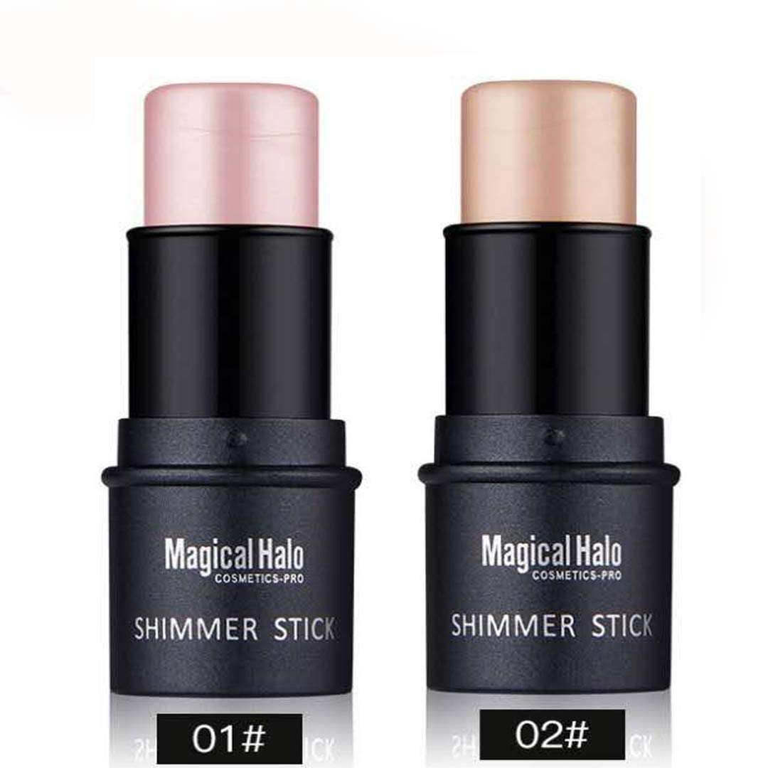Highlighter Stick, NICEFACE Shimmer Cream Powder Waterproof Light Face Cosmetics (2 colors) by NICEFACE
