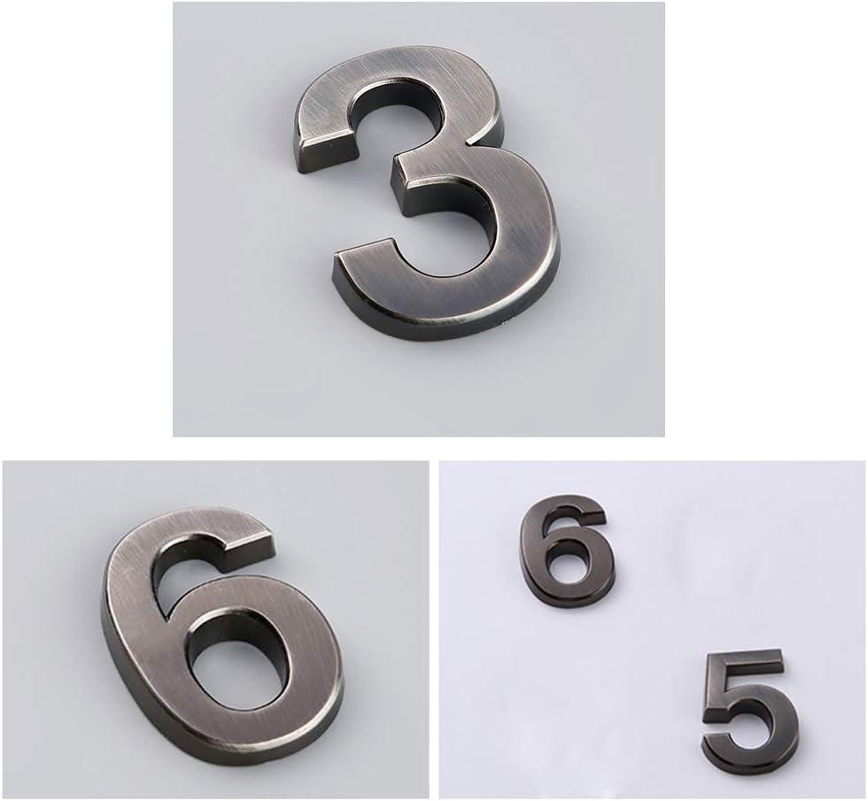0//–/9 Vosarea 10pcs n/úmero Moderno n/úmero de Placa casa Hotel Puerta Direcci/ón n/úmeros Placa Pegatina Signo