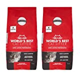 World's Best Cat Litter 28 lbs Odor Control Multiple Cat Clumping Formula, 2 Pack