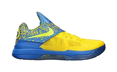 b872aab6c178 NIKE Zoom KD IV 4 Scoring Title Yellow Blue Limited 473679-703 (8 D