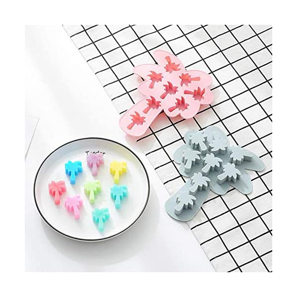 UMTGE - Vaschetta per cubetti di ghiaccio, in silicone e flessibile, 8 vassoi per ghiaccio, per bambini, con caramelle… 4 spesavip