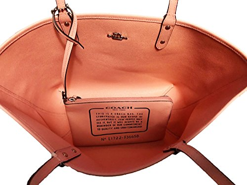 Blush Khaki F36609 Coach Tote Reversible City Signature PVC Rv04pq