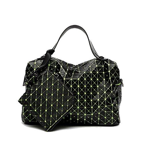 Silicona Para Bolso Green Geometry Tinger De Yxpnu Casual Plegable Mujer waIO0qSxBW