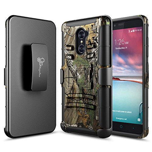 ZTE Grand X Max 2 Case, ZTE Imperial Max Case, ZTE Max Duo LTE Case, NageBee [Heavy Duty] Armor Shock Proof Dual Layer [Swivel Belt Clip] Holster with [Kickstand] Combo Rugged Case - Camo - Lte Grand X Max Cases