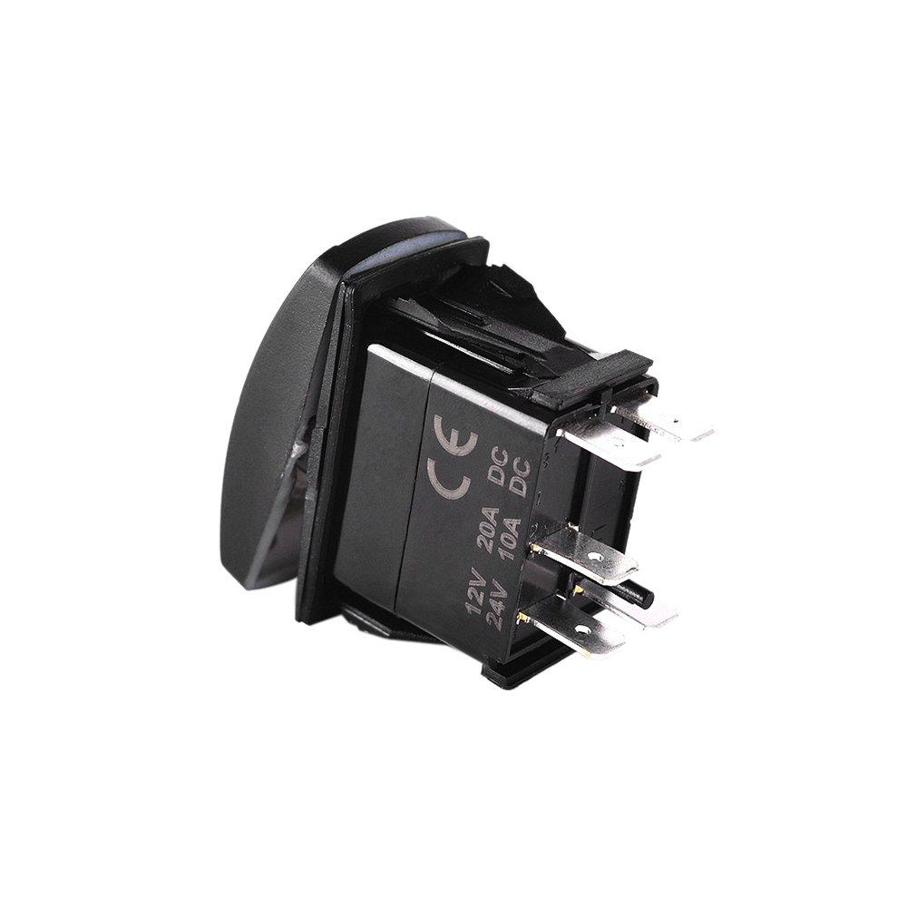 kkmoon LED-Lichtleiste Ausschalter mit Relais, Verkabelungskit 12 V ...