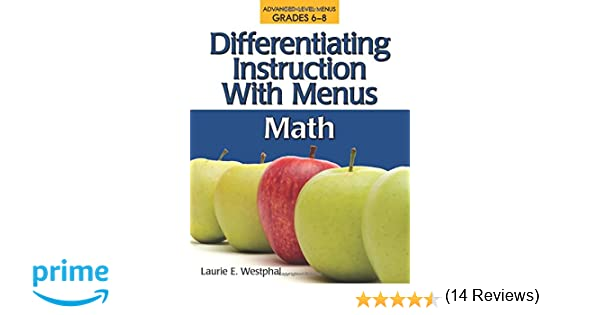 Amazon.com: Differentiating Instruction with Menus: Math (Grades 6 ...