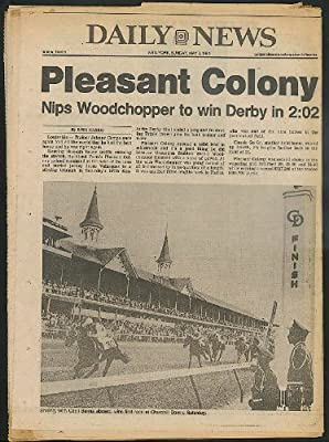 DAILY NEWS Shilling Cecil Bernis Kentucky Derby Bucky Dent Yankees 5/3 1981