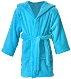 Halconia Kids Boy's & Girl's Bath, Shower, Pool Cover up, Medium Blue, M