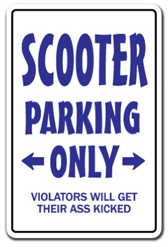 Scooter Parking Sign Redneck Hillbilly Nickname Dixie Country Southern | Indoor/Outdoor | 12