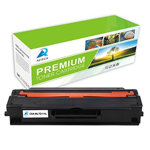 Aztech 1 Pack 3,000 Pages Yield Black Toner cartridge Replaces Samsung MLT-D115L MLTD115L MLT D115L Used For Xpress SL-M2620 SL-M2620ND SL-M2820DW SL-M2820ND SL-M2670FN SL-M2670N SL-M2870FD SL-M2870FW