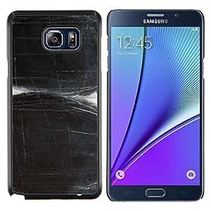 TECHCASE---Cubierta de la caja de protección para la piel dura ** Samsung Galaxy Note 5 ** --Rayado Negro blanco del arte