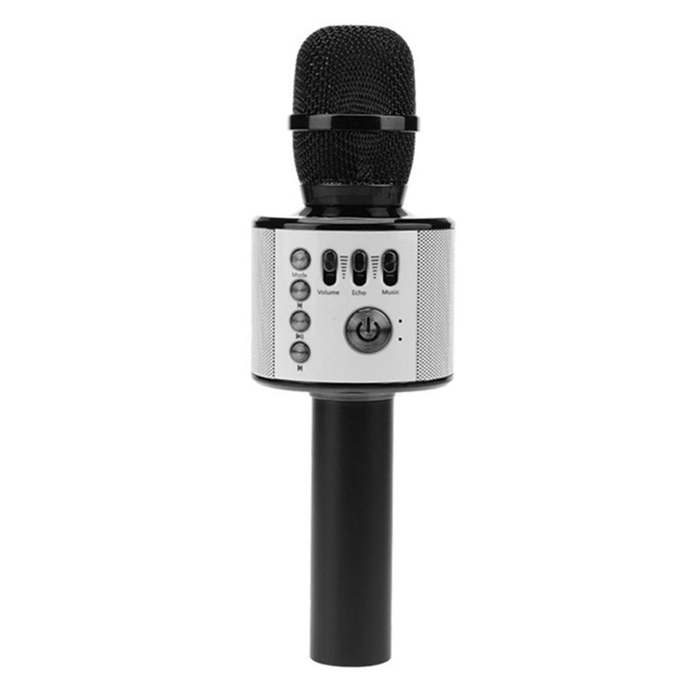 Cheryu Wireless Bluetooth Microphone for iPhone/Android/iPad/Sony/TV/PC and All Smartphone, Portable Handheld 3-in-1 Multi-function Karaoke Mic for Kids,Adults Home KTV Outdoor Party(Black)