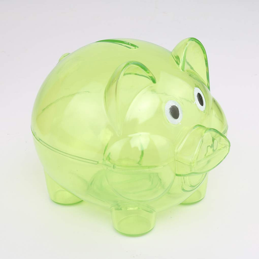 Floridivy en Plastique Transparent d/économie dargent bo/îte Pi/èces Cas Tirelire Cartoon Pig Shaped