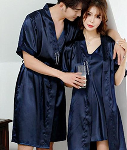 Love with Dress Nightgown Set Champagne Short Dressing Gowns Wanyne ...