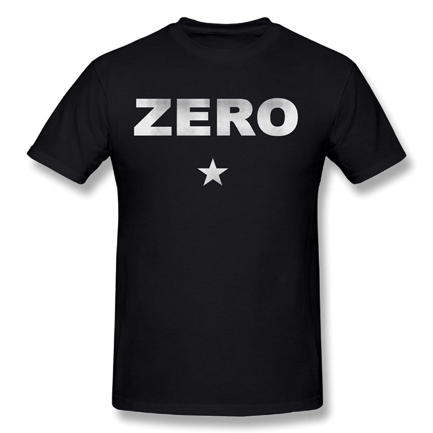Maria Black Men's O-neck Shirts The Smashing Pumpkins Zero Star Logo