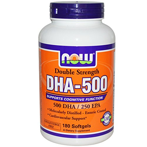 NOW Foods - Dha- 500Mg 180 Sgels (Pack of 4) by NOW Foods