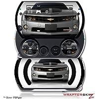 2010 Chevy Camaro Silver - Black Stripes - Vinilos estilo de calcomanías (para Sony PSPgo)