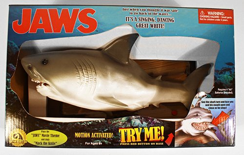 Motion Activated Jaws - A Singing, Dancing Great White! (Singing Shark compare prices)