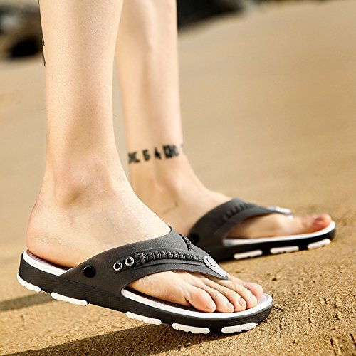 and personality summer male beach drop Gray slip 43 shoes the non men's and fankou the word fashion in summer men's Drag cool shoes breathable 6HCqXwp