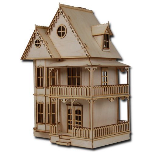 "Half Scale Tennyson Laser Cut Dollhouse Kit 1/2"" Scale"