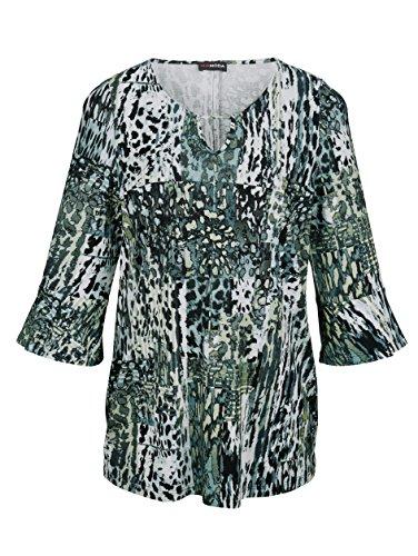 MIAMODA Damen Shirt mit Volant an Den Ärmeln by Grün Bedruckt 69N6ah4its