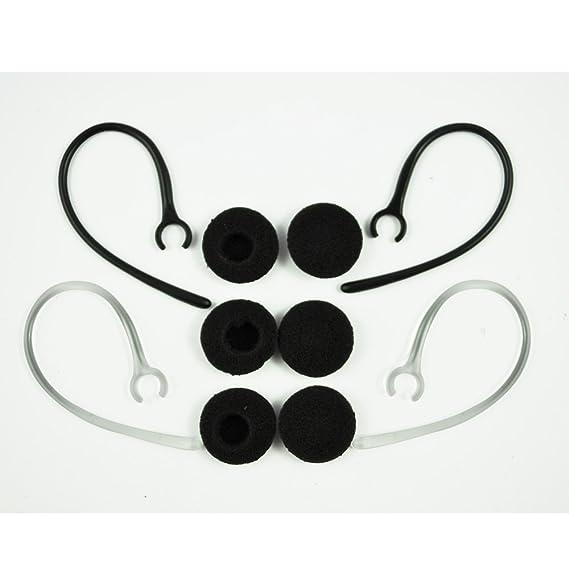 SODIAL(R) Ganchos de Auriculares Orejas para Bluetooth 2-Negro, 2-Transparente (6-Tapon de Espuma): Amazon.es: Electrónica