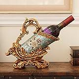 TY&WJ European style Retro Decoration Wine bottle holder Bar pub [restaurant] Creative [decoration] Wine shelf [household] Decoration Wine rack Crafts-C