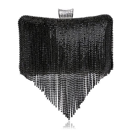 Novia Señora Las Bolso Club Colourfull Diamante color De La Del Mujeres Embrague Black Janefuj Magnífico Noche wt48v8