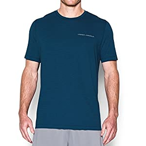Under Armour Men's Charged Cotton T-Shirt, Blackout Navy/Steel, Large