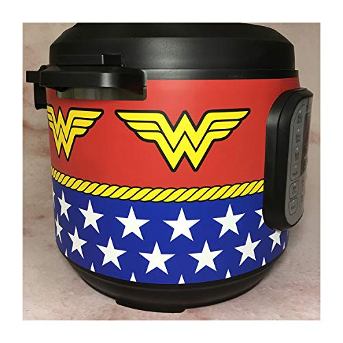 Wonder Woman - Instant Pot Wrap. Waterproof, removeable, reuseable, not a decal - Will only fit DUO 6 qt IP