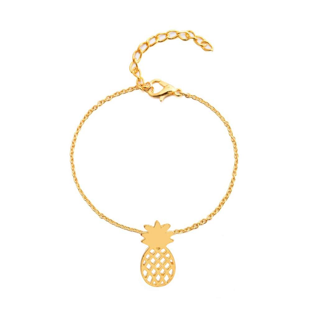 Angel3292 1Pc Fashion Women Hollow Fruit Pineapple Charm Chain Bracelet Jewelry Xmas Gift