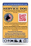 Xpress ID Service Dog ID Card | Includes Registration to National Dog Registry