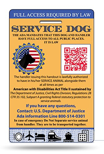 Top 10 registered service dog tags