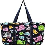 Sea Summer Whale Print Utility Tote Bag