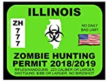 Illinois Zombie Hunting Permit(Bumper Sticker)