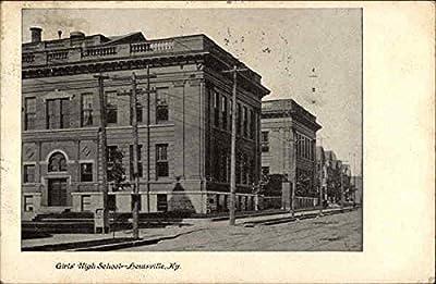 Girls' High School Louisville, Kentucky Original Vintage Postcard